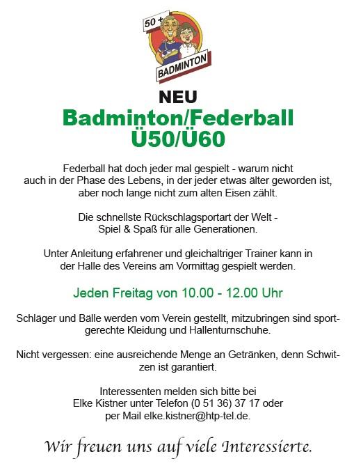 Ü50 Badminton neu